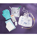 Foley Tray, w/5cc Anti-reflux Device, 10cc Syringe w/Sterile Water, Drain Bag, 18 Fr