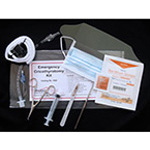Field Cricothyrotomy Kit, 12cc Syringe, 6inch Dilator, 6 1/2inch Retractor, Stabilizer, Tube 6.5mm