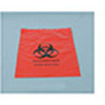 Biohazard Waste Bag, 2 mil, Specimen, Zip Closure, Red with Biohazard Symbol, 12inch x 15inch