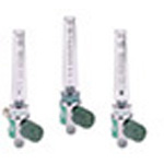 Oxygen Flowmeter, Pediatric, 0-3 LPM, Chrome-Plated, Low Flow, Chemetron Connector
