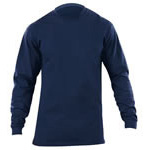 5.11 Men Station Wear T-Shirt, Long Sleeve, Fire Navy, 2XL