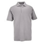 5.11 Men Professional Polo Shirt, Pique Knit, Short Sleeve, Heather Grey, LG