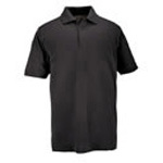 5.11 Men Professional Polo Shirt, Pique Knit, Short Sleeve, Black, 2XL