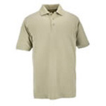 5.11 Men Professional Polo Shirt, Pique Knit, Short Sleeve, Silver Tan, MED