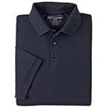 5.11 Men Professional Polo Shirt, Pique Knit, Short Sleeve, Tall, Dark Navy, 2XL