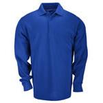 5.11 Men Professional Polo Shirt, Pique Knit, Long Sleeve, Academy Blue, 2XL