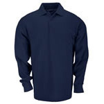 5.11 Men Professional Polo Shirt, Pique Knit, Long Sleeve, Dark Navy, LG