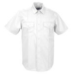5.11 Men A-Class Station Shirt, Short Sleeve, White, 2XL