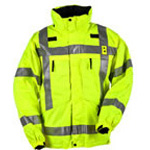 5.11 Men 3-in-1 Reversible Hi-Vis Parka, w/Fleece, SM