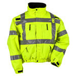 5.11 Men Reversible Hi-Vis Jacket, Reverses from Black to Hi-Vis Yellow, 2XL