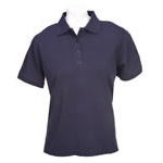 5.11 Women Tactical Polo Shirt, Short Sleeve, Dark Navy, LG