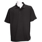 5.11 Men Performance Polo Shirt, Short Sleeve, Black, 2XL