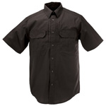 5.11 Men Taclite Pro Shirt, Short Sleeve, Black, MED