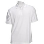 5.11 Men Tactical Polo Shirt, Short Sleeves White, 2XL