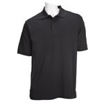 5.11 Men Tactical Polo Shirt, Short Sleeves Black, 2XL