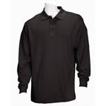 5.11 Men Performance Polo Shirts, Long Sleeve, Black, XL