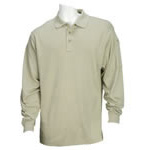 5.11 Men Performance Polo Shirts, Long Sleeve, Silver Tan, 2XL