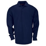 5.11 Men Tactical Polo Shirt, Long Sleeve, Dark Navy, 2XL