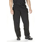 5.11 Men Cotton Tactical Pant, Black, Unhemmed, 46/UN