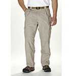 5.11 Men Cotton Tactical Pant, Khaki, Unhemmed, 46/UN