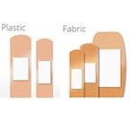 Careband Adhesive Bandage, Plastic, 3/4inch, 100/bx