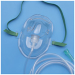 AirLife Oxygen Mask, Under the Chin, 7 foot Tubing, Adult