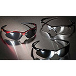 Nemesis V30 Safety Glasses, Neck Cord, Black Frame, Clear Lens
