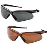 Nemesis Polarized Safety Glasses, Gunmetal Frame, Smoke Lens