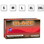 Microflex Blaze Gloves, Hi-Vis Orange, Nitrile, Powder Free, SM