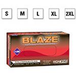 Microflex  Blaze Gloves, Hi-Vis Orange, Nitrile, Powder Free, 2XL