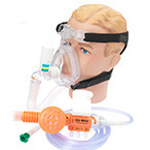 O2-MAX Variable Flow 3-SET CPAP, Bitrac ED Mask and Head Strap, Adult LG