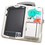 Recertified Philips MRx Biphasic Defibrillator, 12-Lead with Pacing, SpO2, EtCO2, NiBP and AED