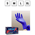 Microflex Cobalt X Nitrile Exam Gloves, Powder Free, 9.5in, Cobalt Blue, SM
