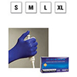 Microflex Cobalt Nitrile Exam Gloves, Powder Free, 9.5in, Cobalt Blue, SM