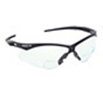 Nemesis Rx Reader Safety Glasses, Clear Lens, Black Frame, 2.5
