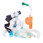 CPAP/Capnography Kit, O2 Max Bitrac ED Mask, Adult MED, w/3-SET Valve, Flow Generator and CO2 Sampling Line *Discontinued*