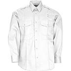 5.11 PDU Twill Class B Shirt, Long Sleeve, Men, White, MED/REG