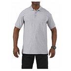 5.11 Utility Polo Shirt, Short Sleeve, Heather Gray, XS