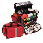 Curaplex 500 Small Semi-Rigid Trauma Bag, Red