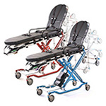 POWERFlexx+ Power Cot with Universal Side Arm, Rescue Red