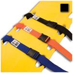 Curaplex Backboard Strap, Side Release Buckle, 2 Piece w/ Loop Lock, Polypropylene, Black, 5 feet