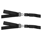Model 436i Restraint Straps, 2 piece, 5 ft, Speed Clip, Metal Buckle
