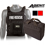 AGENT RTF Vest Kit, Red, Soft Armor, incl Medical Pouch with Supplies