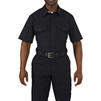 5.11 Men Stryke PDU Class A Shirt, Short Sleeve, Midnight Navy, SM/Short