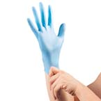 Curaplex® TritonGrip VL™ Gloves, Lt Blue Nitrile, Powder Free, SM