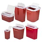 Curaplex Sharps Container, Flip, 3.5in L x 3.5in W x 7in H, 1 Quart