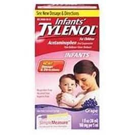 Tylenol 160mg/5ml, 30ml Dropper, Grape Flavor
