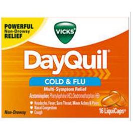 Vicks DayQuil Cold & Flu Liquid Caps 16/bx