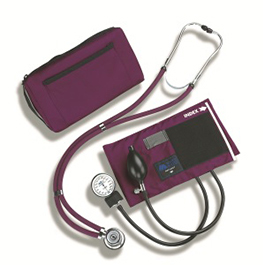 BP Cuff and Stethescope Combo, MatchMates, with Sprague, Steth Accessories, Carrying Case, Purple