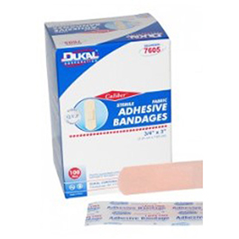 Adhesive Bandages, Plastic, Sterile, 1inch x 3inch, 100/Box